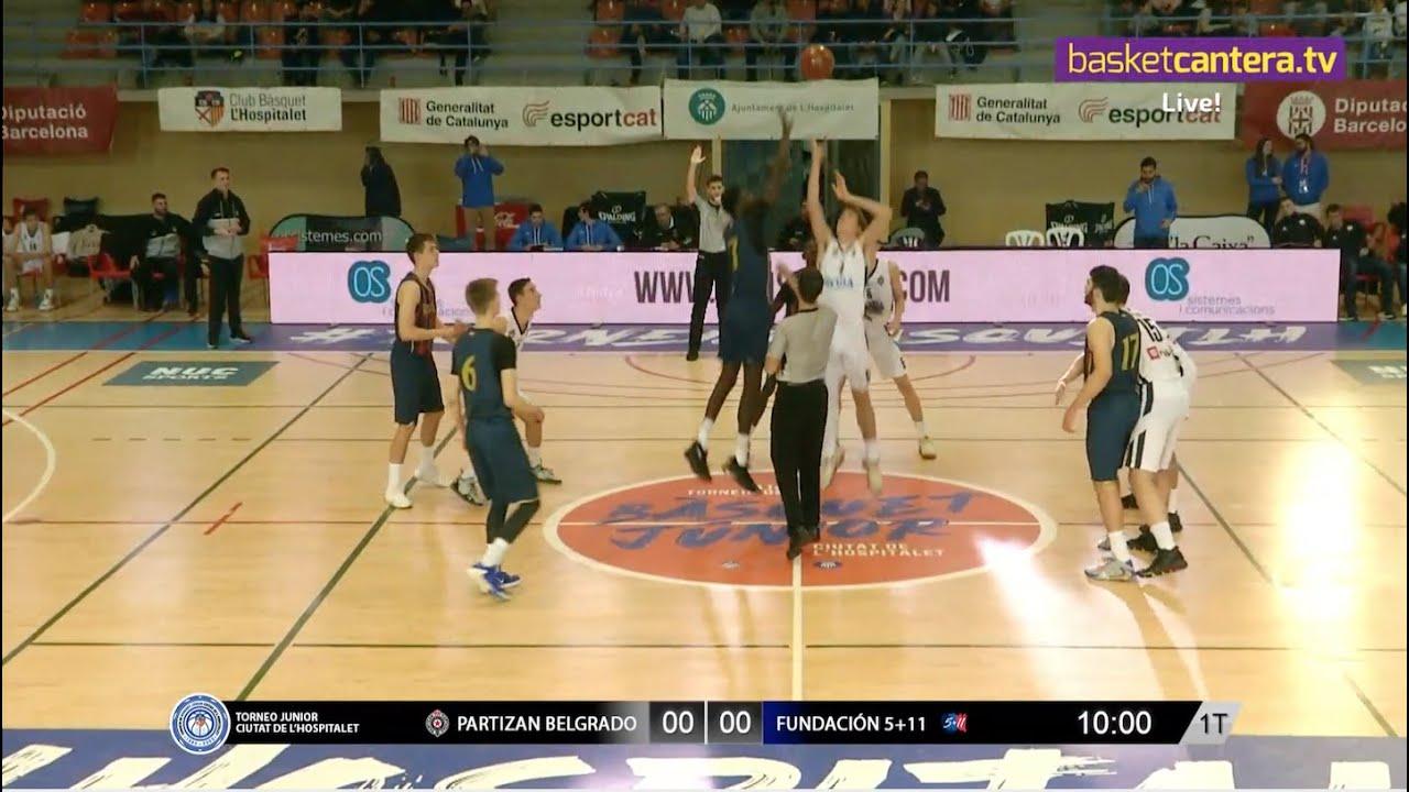 Live - U18M - PARTIZAN BELGRADO vs  BASKONIA FUNDACIÓN 5 + 11.- Torneo Junior L´Hospitalet 2020