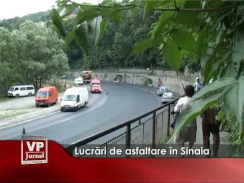 Lucrări de asfaltare în Sinaia