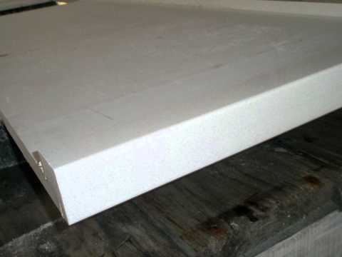 Video Pure White Color Engineered Quartz Stone Kitchen Counter tops