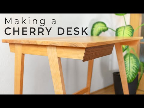 Making a Cherry Desk - All Hand Tool Joinery