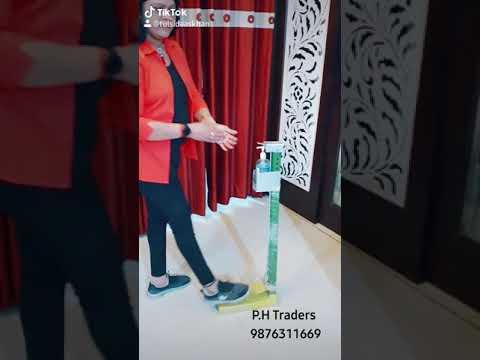 Foot Operated Hand sanitizing machine