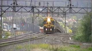 preview picture of video 'Pacific National SG grain train through Ararat'