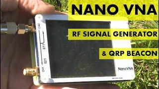 Using a Nano VNA as an RF signal generator