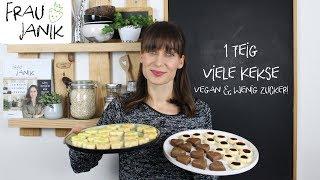 1 Teig viele Kekse   vegan & wenig Zucker!