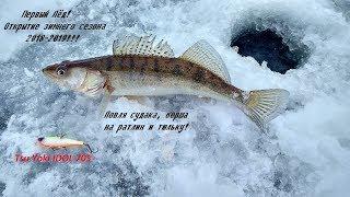 Зимняя рыбалка на волге первый лед