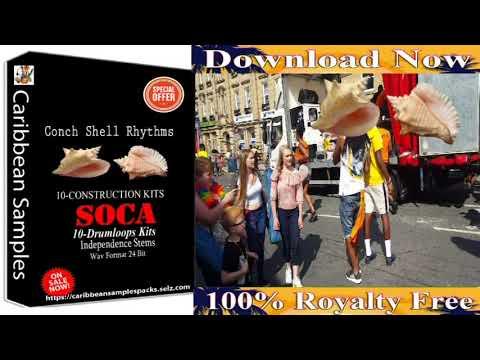 Conch Shell Soca Rhythms / 10-Construction Kits / Drum-Loops Kits.