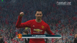 Manchester United Vs Hull City  Premier League 2016/2017  PES 2017 Gameplay