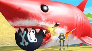 GIANT RED SHARK vs GIANT BOMB - Amazing Frog - Part 149   Pungence