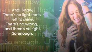 Miley Cyrus - Giving you up (lyrics)