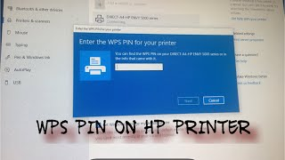 Where to find the wps pin on printer