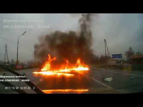 Водитель «Жигулей» сгорел вместе со своей машиной в результате ДТП на Рязанском шоссе