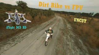FPV drone dirt bike chasing - Uncut cinematic FPV chasing