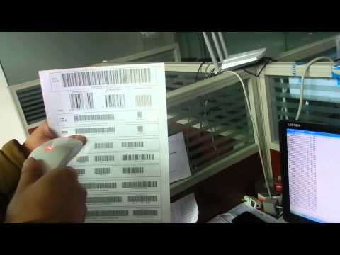 CCD barcode  scanner test