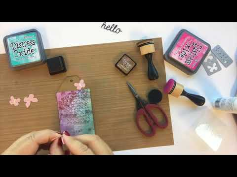 6 Steps With Sizzix in 60 Seconds: Hello Lace Butterflies Tag