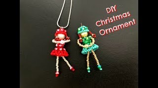 DIY Beaded Ballerina || Beaded Charm || DIY Christmas Ornaments