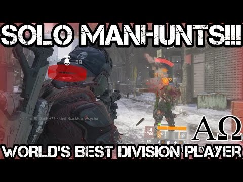 #1 Best Division Player SOLO Manhunts!!! - The Division 1.6.1 & PLAYERUNKNOWN'S Battlegrounds