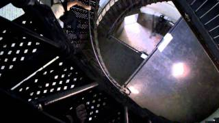 inside the lighthouse at Hunting Island