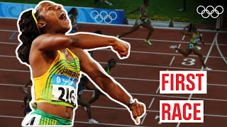 Shelly-Ann Fraser-Pryce's 🇯🇲 first Olympic Race! 🏃♀️