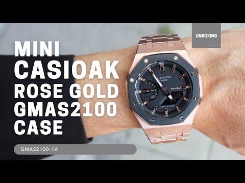 Mini CasiOak GMAS2100 Rose Gold Steel for Casio G-Shock GMA S2100
