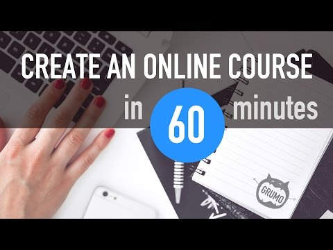 How to create an online course in 60 minutes (Tutorial) - YouTube