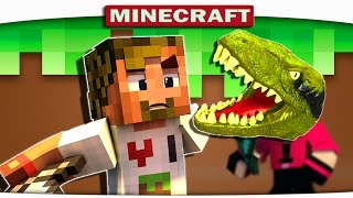 ч.04 - ЖЕСТОКОЕ НАПАДЕНИЕ ДИНОЗАВРА!!! - Подземные приключения (Minecraft CRAZY HG)