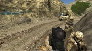 preview picture of video 'Project Reality 0.91 - British forces ambushed (TWICE) - Tactical Gamer mumble teamwork'