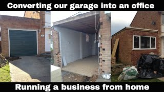 How We Converted Our Garage Into Interior Office Space