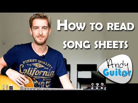How to Read Chord Sheets & Play Songs on GUITAR!