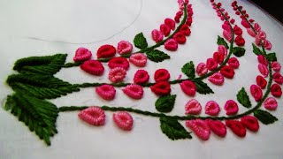 Hand Embroidery: Neckline Embroidery/Brazilian Embroidery