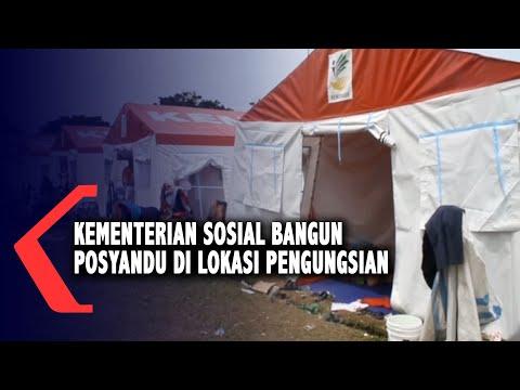 Kementerian Sosial Bangun Posyandu Di Lokasi Pengungsian Korban Gempa Mamuju