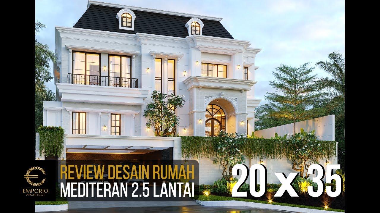 Video 3D Desain Rumah Mediteran 2.5 Lantai Bapak Amir Prayoga di Malang, Jawa Timur