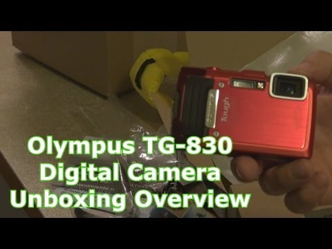 Olympus TG-830 Digital Camera Unboxing Overview