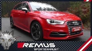 Video: Remus Komplettanlage ab Kat für Audi S3 8V