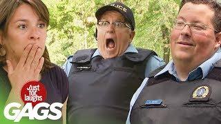 bromas farsa con policías
