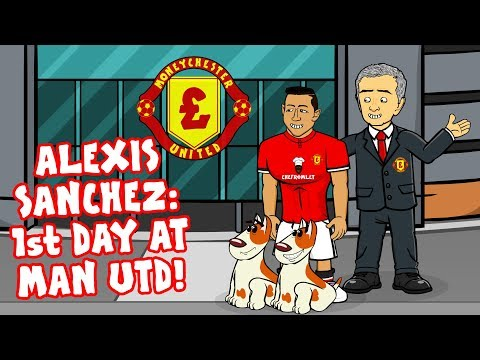 🔴ALEXIS SANCHEZ: 1st DAY AT MAN UTD!🔴