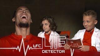 Video Van Dijk takes Lie Detector Test | 'Ever picked your nose and eaten it?' | Kop Kids MP3, 3GP, MP4, WEBM, AVI, FLV Agustus 2019