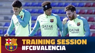 FC Barcelona back at work and preparing for Valencia