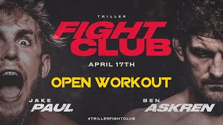 Jake Paul VS. Ben Askren OFFICIAL Open Workout