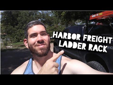 Harbor Freight Ladder Rack Install