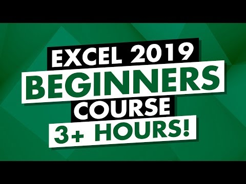 Microsoft Excel Tutorial: 3-Hour MS Excel 2019 Course for ...