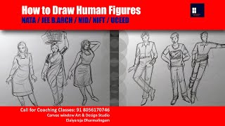 NATA   JEEBArch   NID   NIFT   UCEED   How To Draw Human Figures