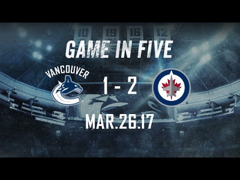Canucks vs. Jets Game in Five (Mar. 26, 2017)