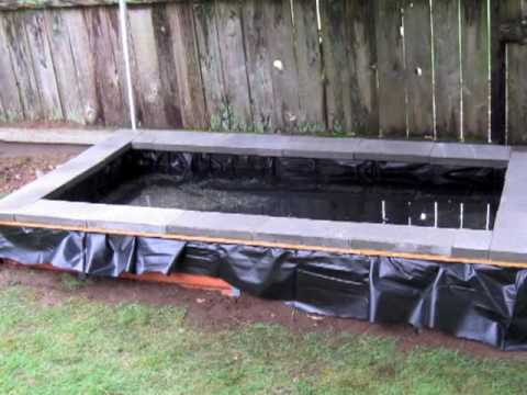 DIY Pond - waterfall - filter build step by step for less than $400