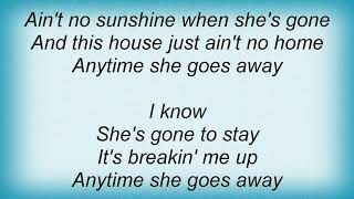 Wynonna Judd - Ain't No Sunshine Lyrics