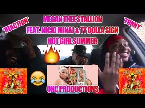 Megan Thee Stallion - Feat. Nicki Minaj & TY Dolla Sign - Hot Girl Summer - REACTION