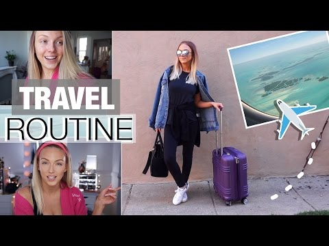 Airplane Travel Routine: Makeup, Carry-On + Outfit!