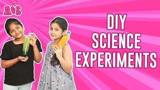 Aadya & Sitara DIY Science Experiments | Kid Friendly Science Experiments | Making A Lava Lamp | A&S