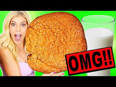 WORLD'S LARGEST GIANT CHOCOLATE CHIP COOKIE!! (20,000+ CALORIES)