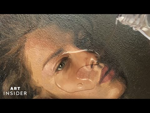 Painting Realistic Portraits of Celebrities