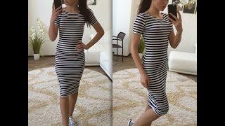 Платье тельняшка.Платье морячка.полосатые платья.полоска в моде